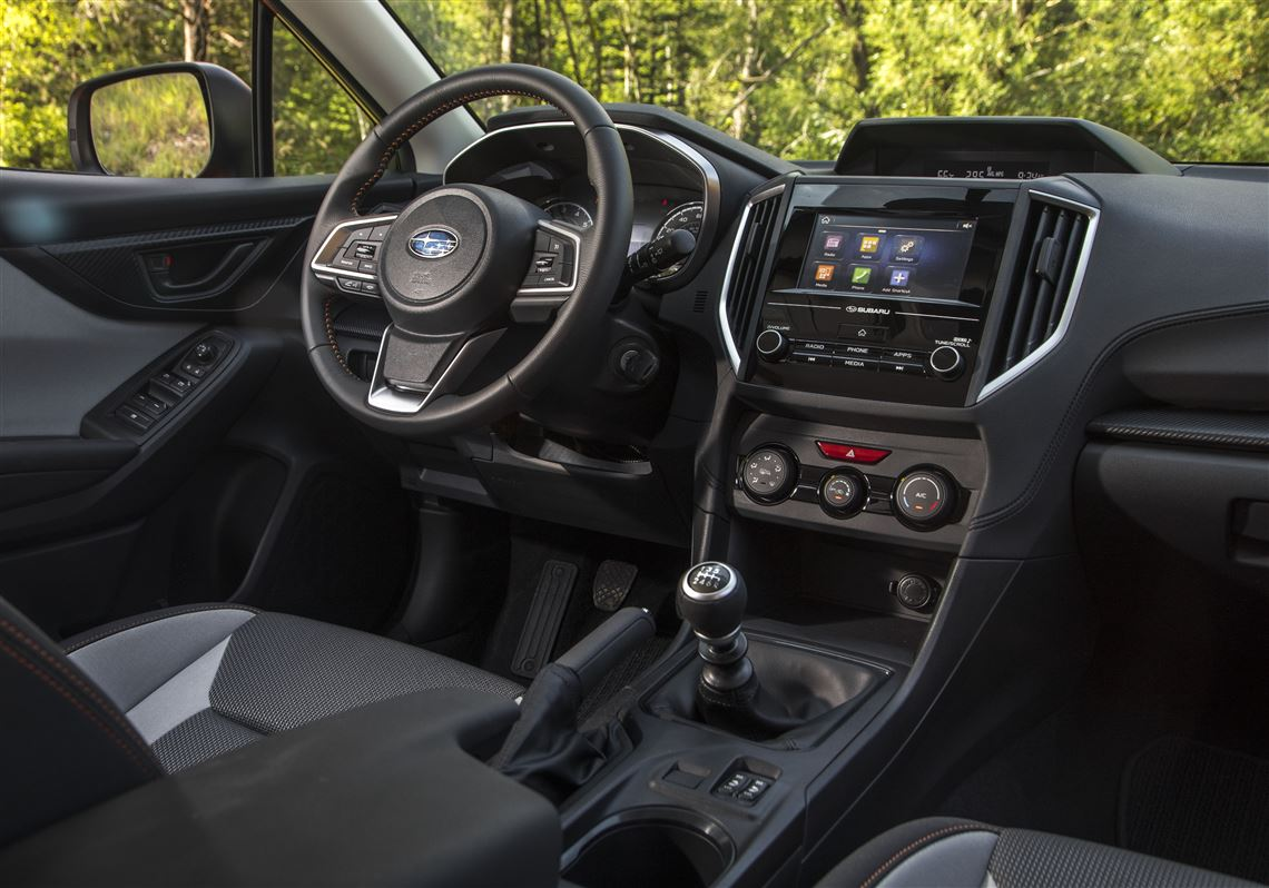 The Interior Of 2019 Subaru Crosstrek Remains A Fairly Businesslike Place For Drivers And Pengers