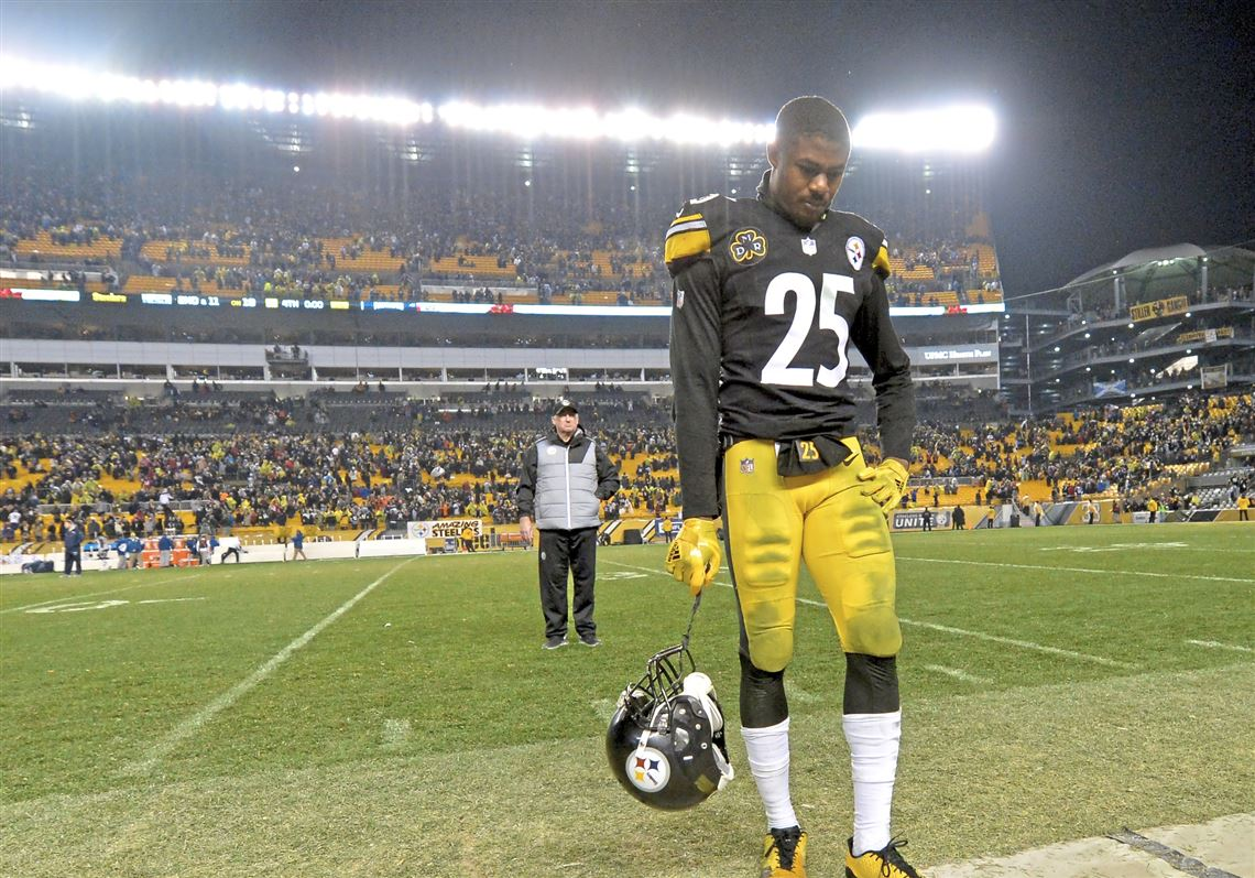 58727aaadef Artie Burns walks off the field after losing to the Patriots at Heinz Field  on Sunday