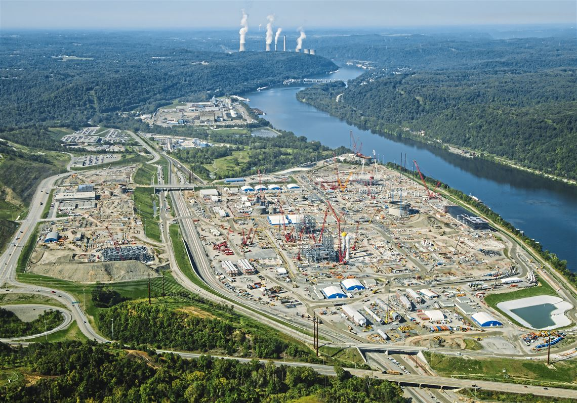 Construction continues on Royal Dutch Shell's petrochemical plant in this 2018 photo. The same company led an exercise in 2017 to imagine how Pennsylvania's energy system might evolve in the next 25 years. The results of that report are in.