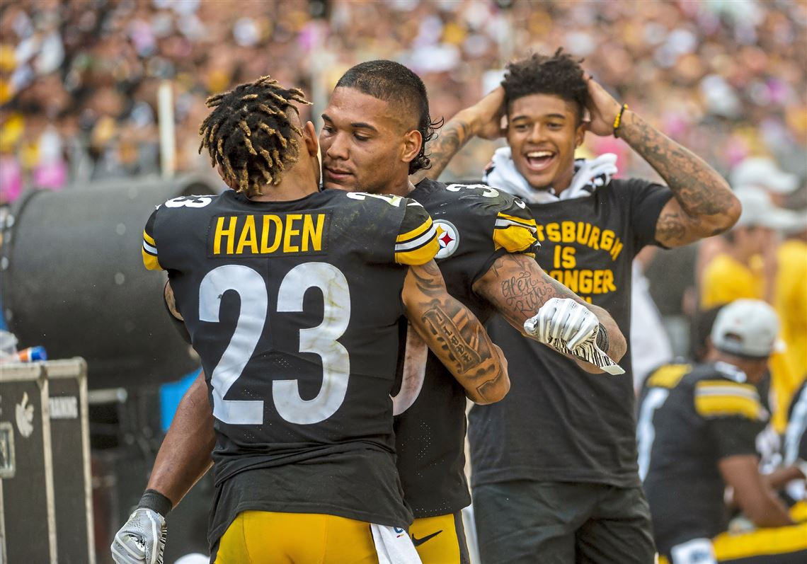 check out 07fd4 fc93c Steelers corner Joe Haden held Julio Jones, the NFL's ...