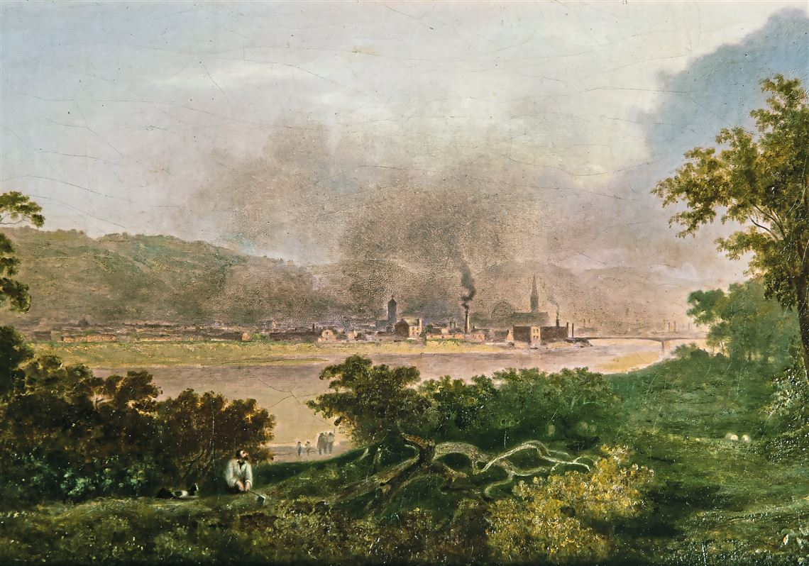 English artist Henry Warren painted rare view of Pittsburgh