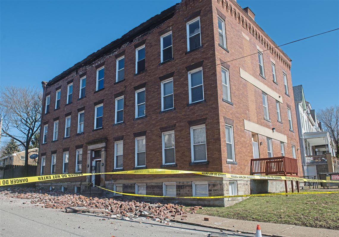 No One Was Injured When Bricks Fell From The Top Of An Apartment Building In Perry
