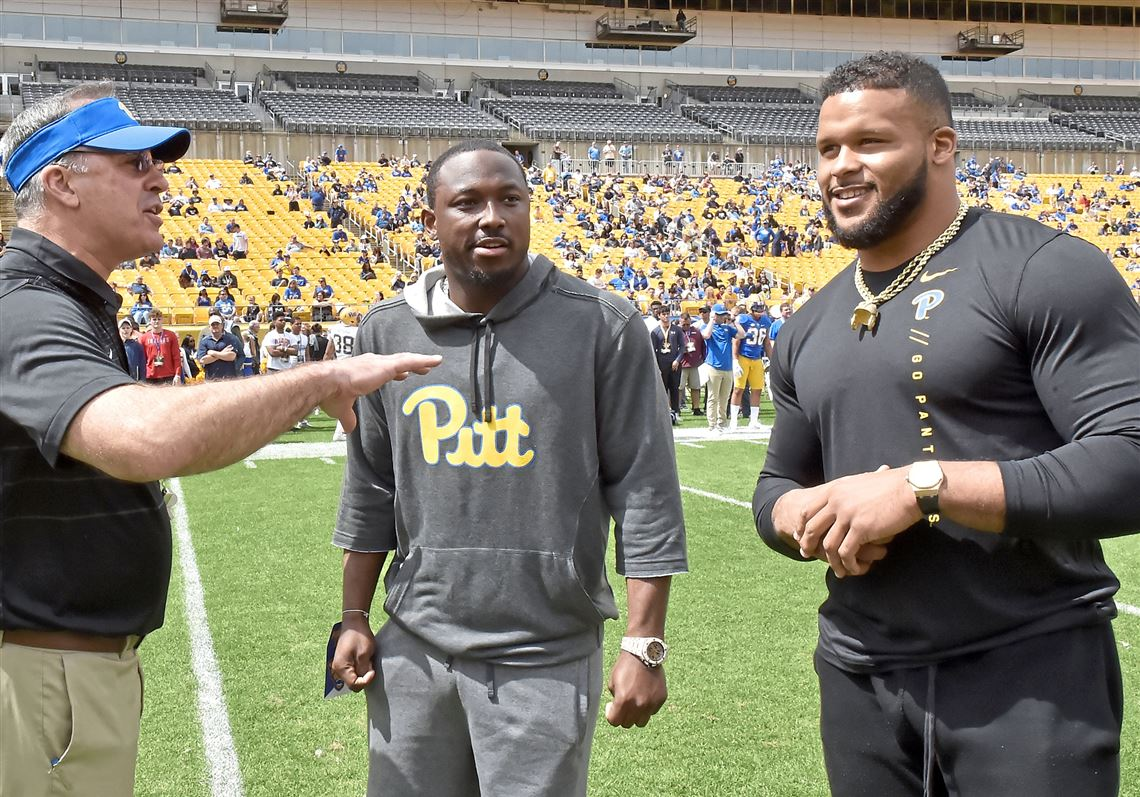 No More Double Takes Aaron Donald S Presence At Pitt Provides Inspiration Pittsburgh Post Gazette