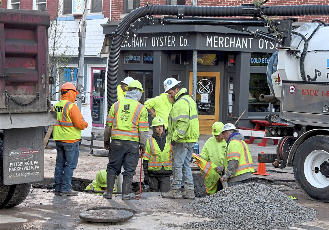 Water service restored to Butler Street business district in