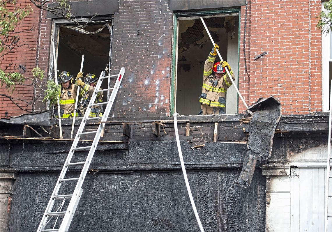 None hurt as firefighters battle blaze at 3-story building in Wilkinsburg