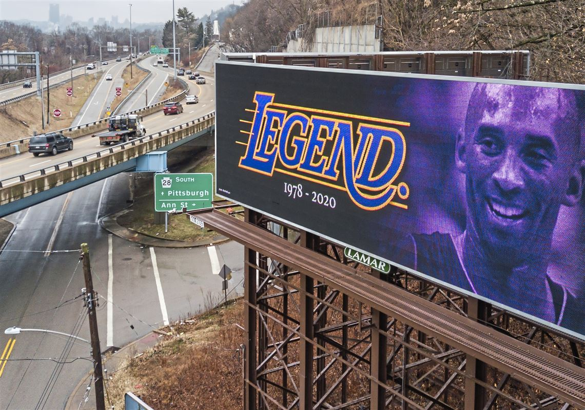 Kobe Bryant billboards pop up in Pittsburgh to honor fallen NBA star