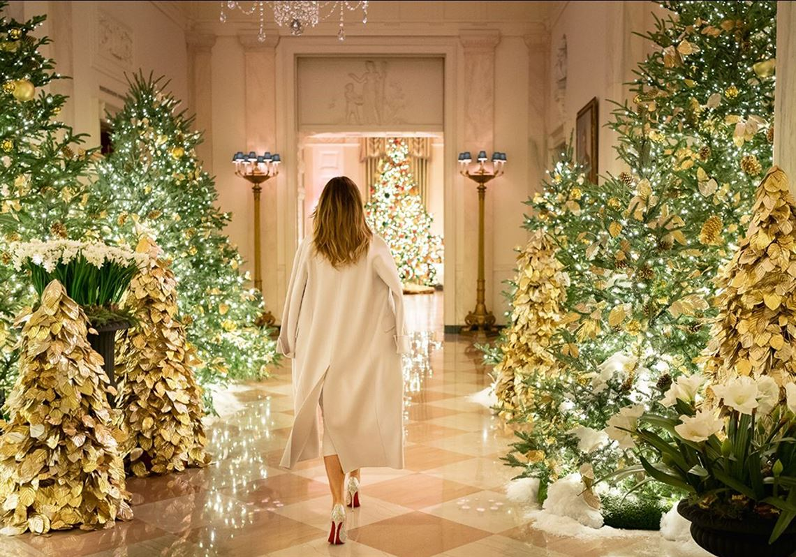 Melania Trump Unveils The White House S Christmas Decorations Pittsburgh Post Gazette