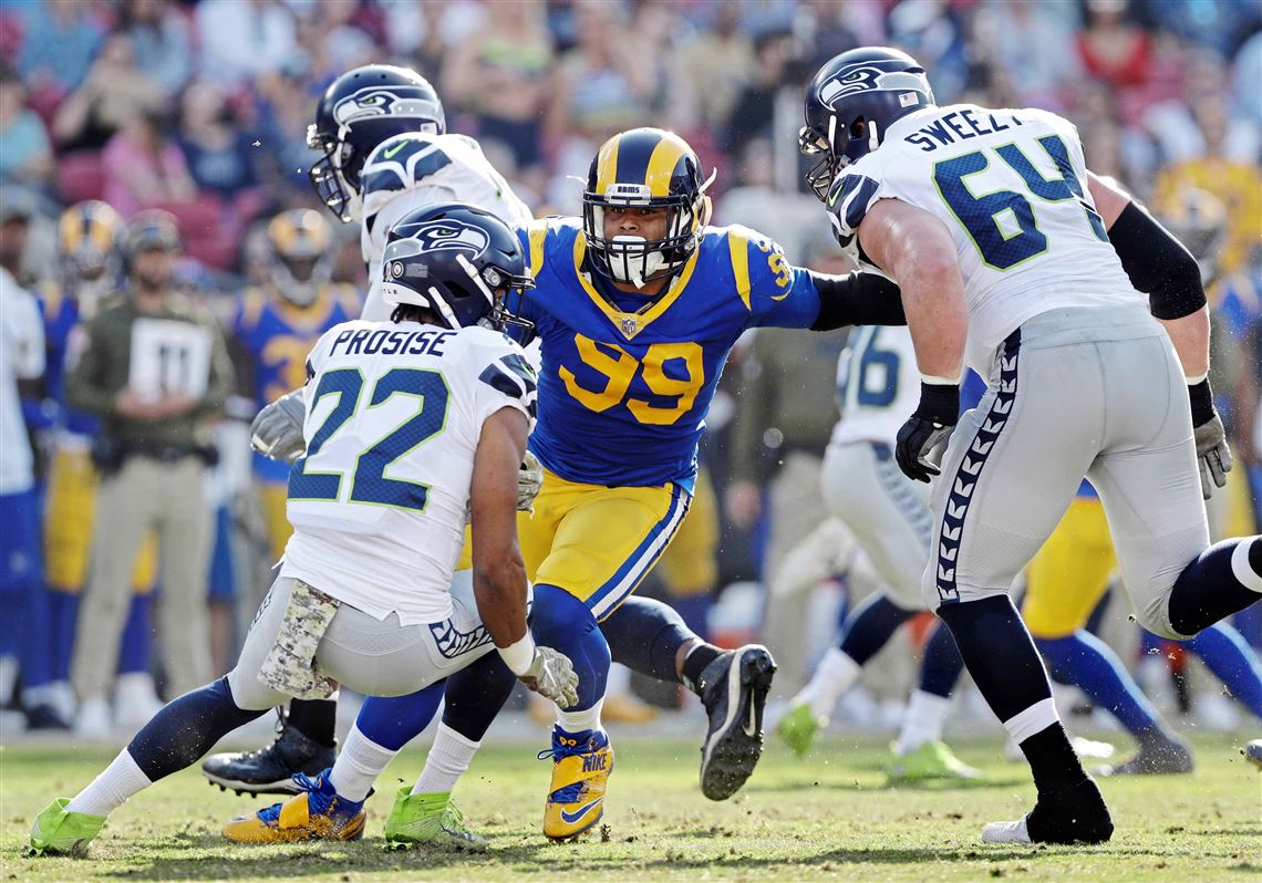 online store f5971 aec13 Aaron Donald and Joe Greene make a connection — and a Super ...
