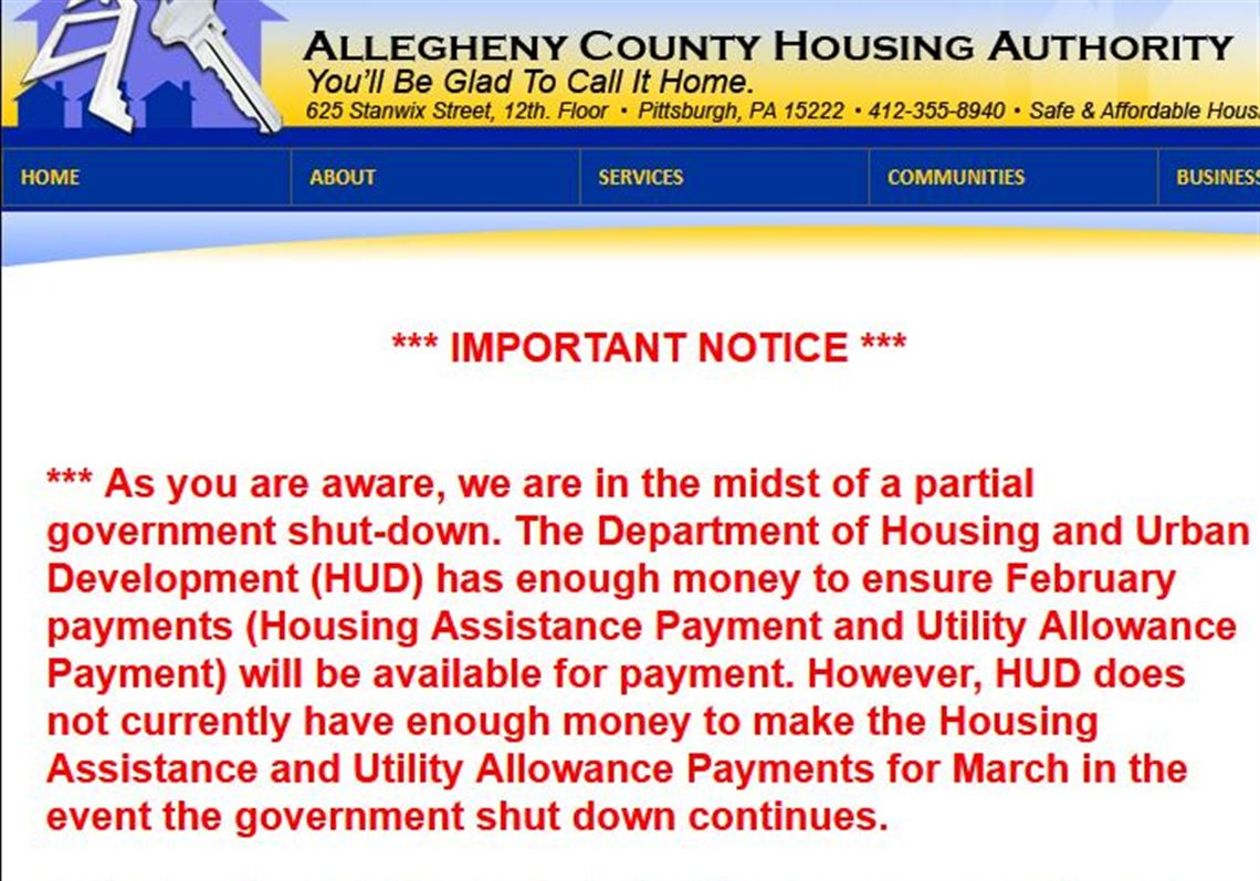 Housing Authority S Plea Please Call Congress To End Shutdown