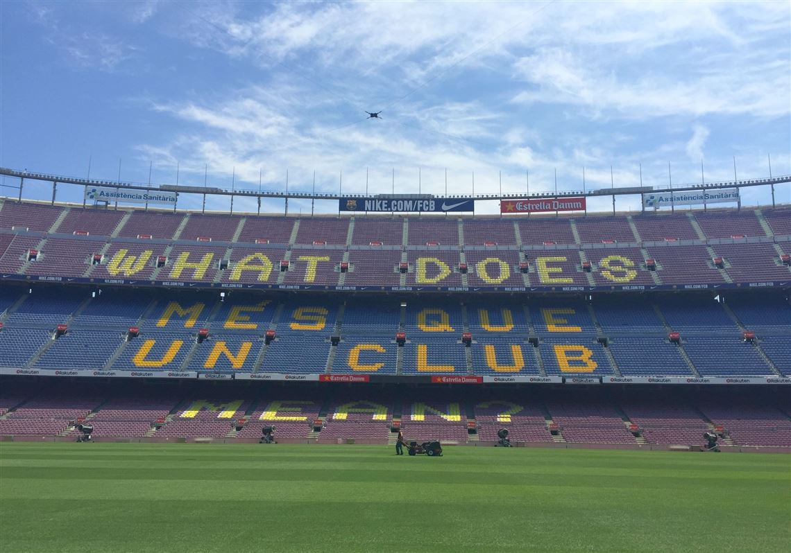 barcelona s camp nou is a destination goal for futbol fans pittsburgh post gazette camp nou is a destination goal