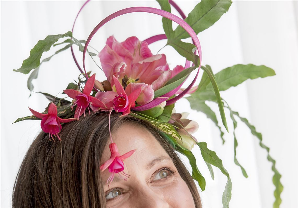 Heres how to make your own fancy flower fascinator and watch the greensinner lead designer rose kocher poses with her fascinator on tuesday may 8 2018 izmirmasajfo