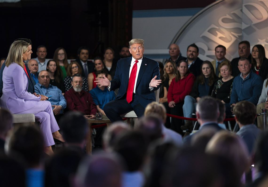 Trump Defends His Rhetoric In 1st Tv Town Hall Of 2020 Pittsburgh Post Gazette