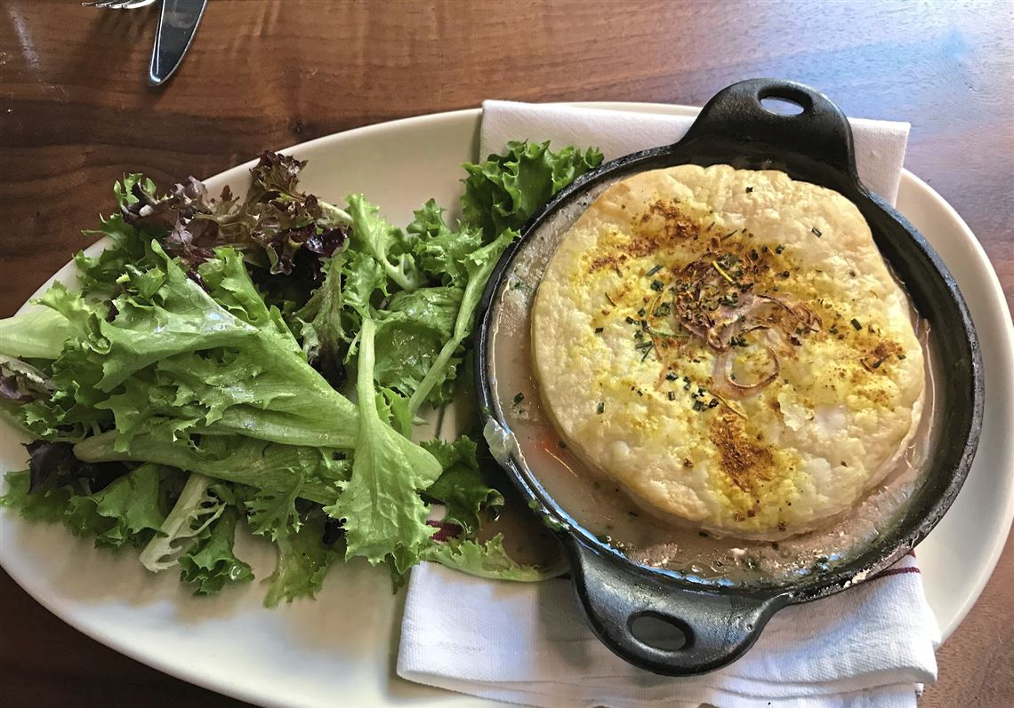 The Gerber Farms En Pot Pie At Union Standard Comes With A Side Salad