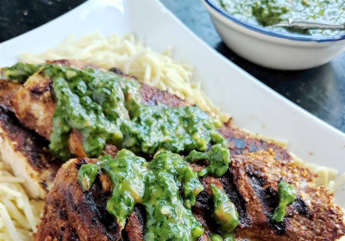 Let S Eat Easy Grilled Chicken With A Sweet And Spicy Herb Sauce Pittsburgh Post Gazette