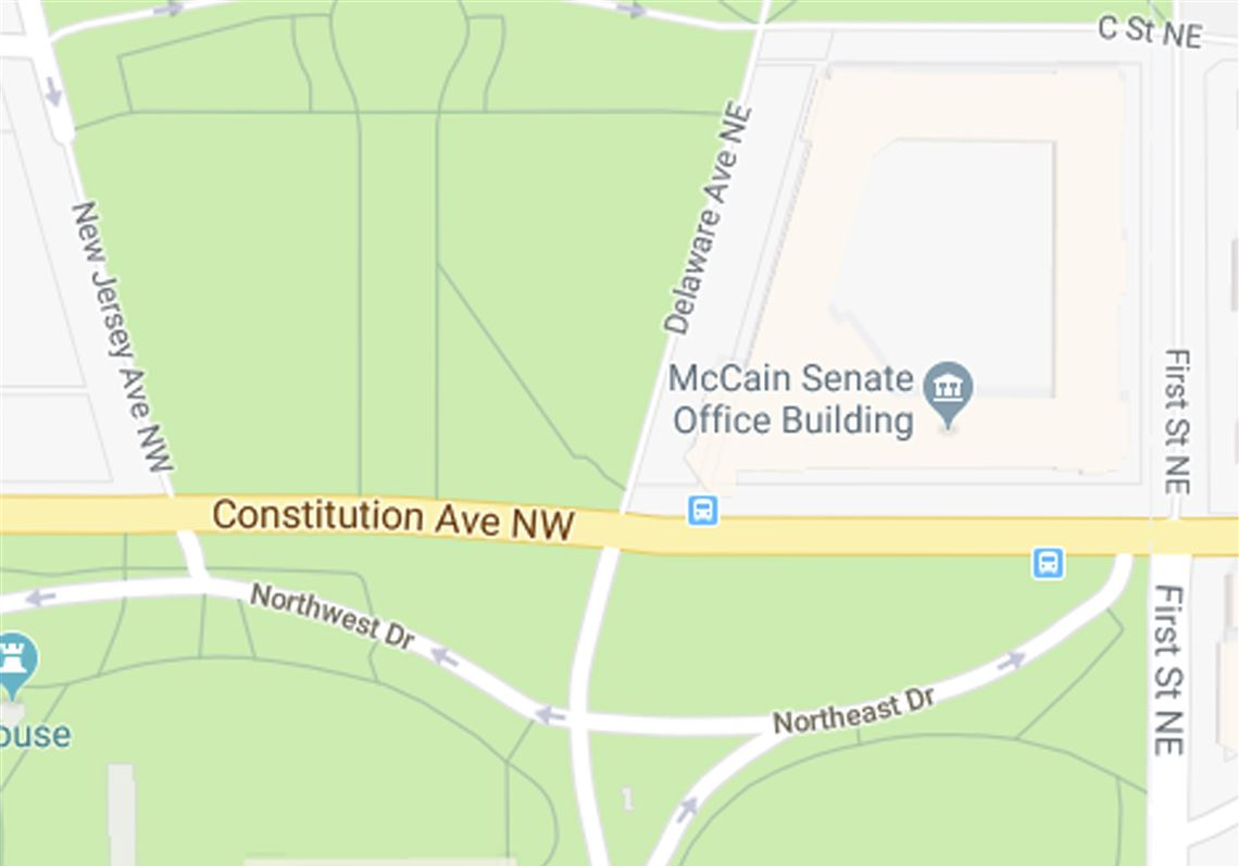 Google Maps shows a \'McCain Senate Office Building\' before the ...