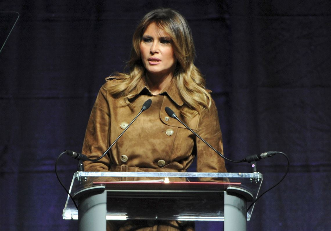Melania Trump was booed while addressing students during a Baltimore opioid summit