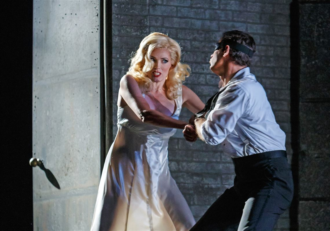 "Review: In Pittsburgh Opera's ""Don Giovanni,"" a noir spin proves arresting, thought-provoking"