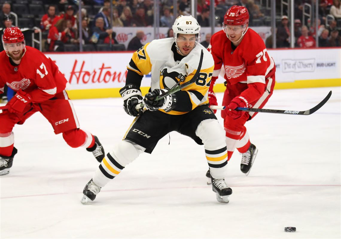 Sidney Crosby scores game-winning goal to beat Red Wings in overtime