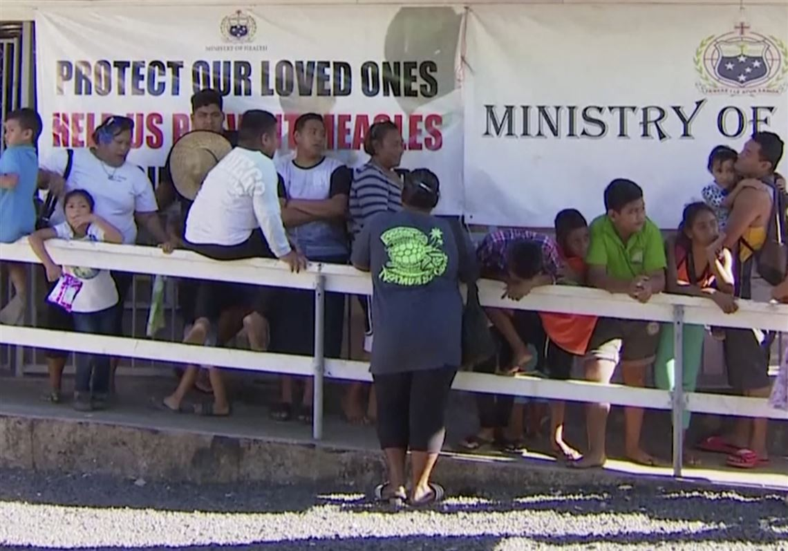 Samoa's government will close amid a measles outbreak that's killed dozens of children