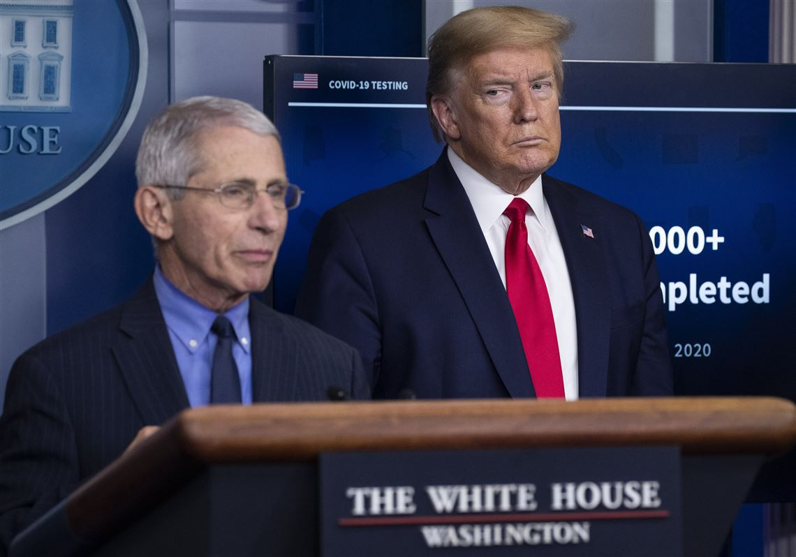 President Trump suggests he might fire Dr. Anthony Fauci 'a little bit  after the election' | Pittsburgh Post-Gazette