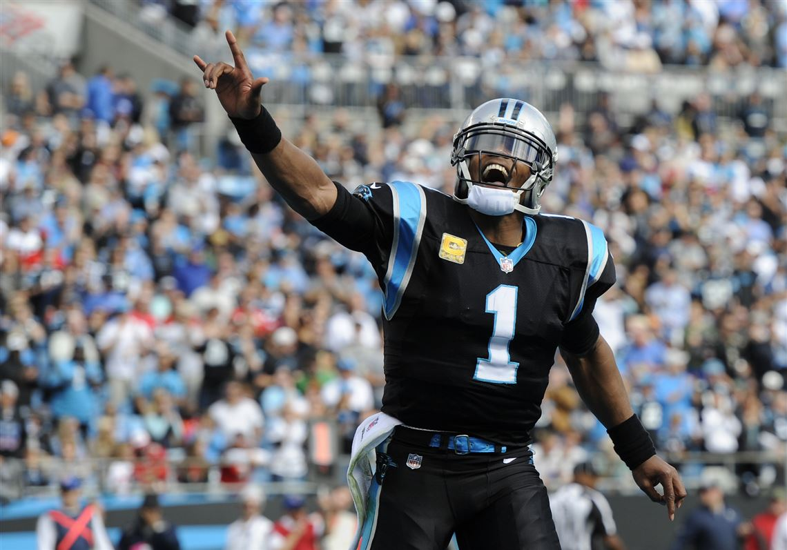 ba084281c Carolina s Cam Newton has 342 yards and four TDs on 73 rushes.