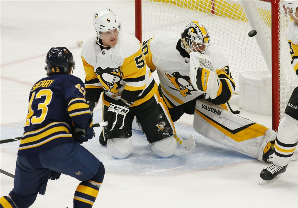 d59b93b4f Buffalo Sabres forward Conor Sheary scores on Penguins goalie Matt Murray  during the first period Friday