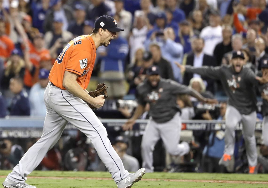 on the mound for two playoff game 7s charlie morton won the world series with houston pittsburgh post gazette two playoff game 7s charlie morton won