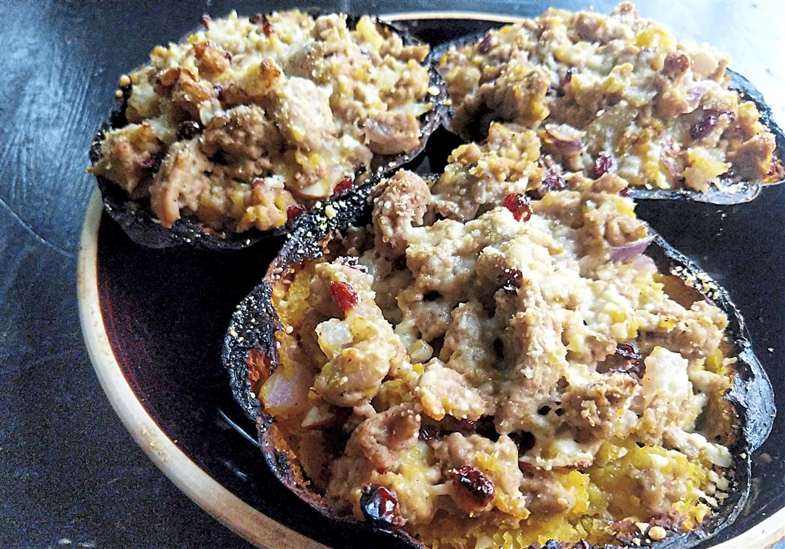 Let's eat: Stuff that acorn squash with turkey and cheese