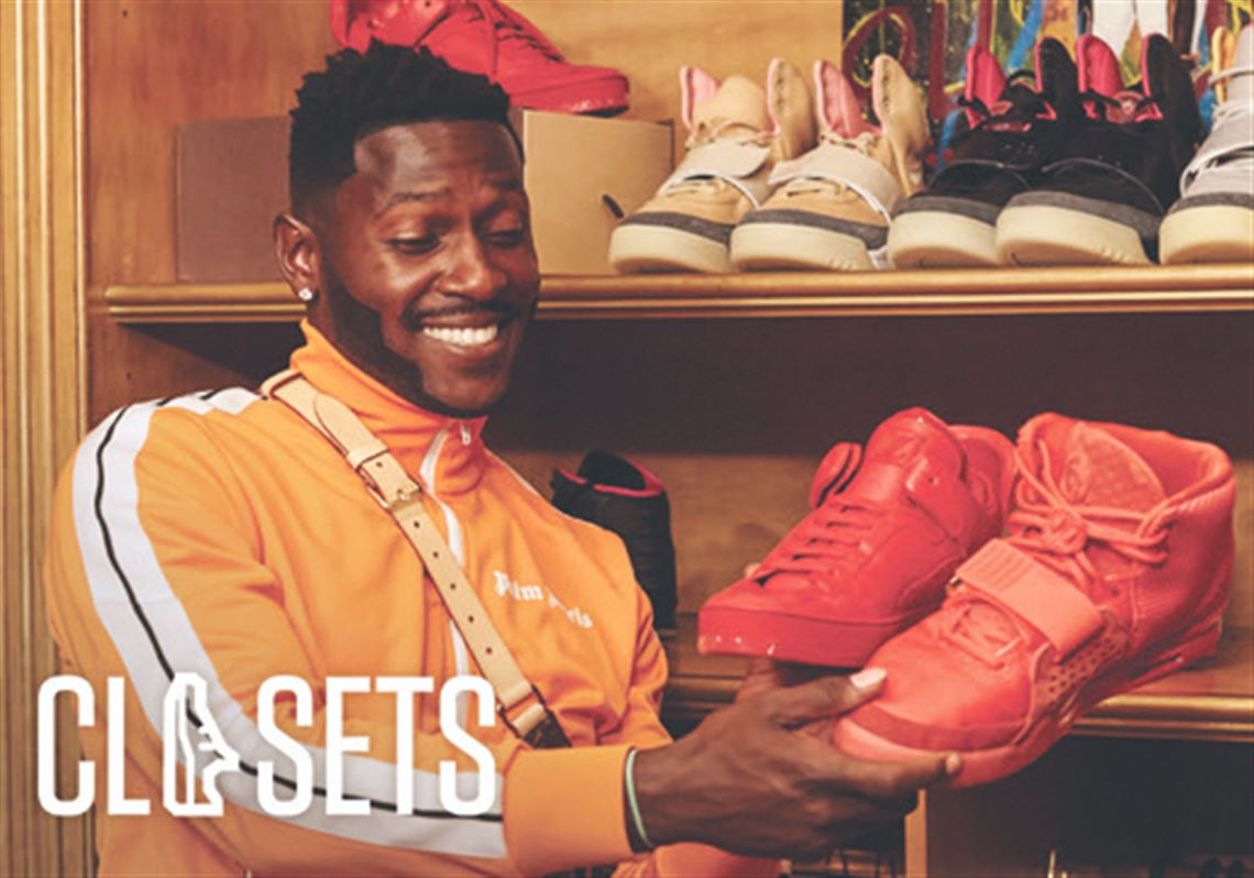 Check out Antonio Brown's extensive sneaker collection on