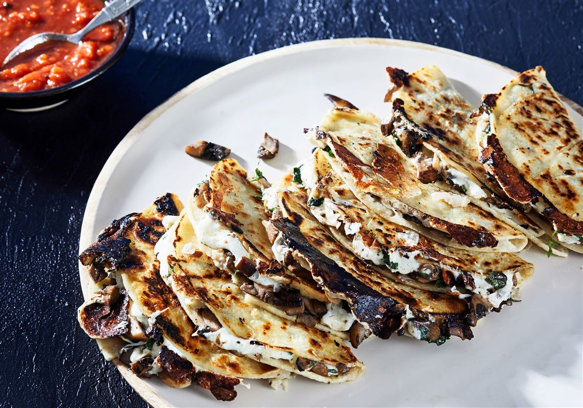 Mushroom quesadillas that work for you, not the other way around