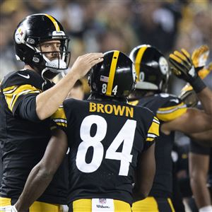 Pittsburgh Steelers quarterback Ben Roethlisberger  7 and Pittsburgh  Steelers wide receiver Antonio Brown  84 4bd95ee96