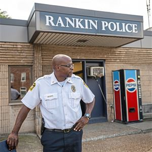 "Ryan Wooten Rankin Chief of Police photographed at the Rankin Police Department building, Thursday, August 23, 2018, in Rankin. ""Anybody that is looking to be an officer gets discouraged by everything that's going on,"" he said on Wednesday, Oct. 9, 2019."