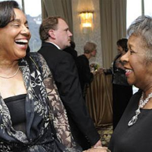 Honorary chair Nancy Washington, left, and Ann Haley at Point Park University's Starmakers Gala at the Pittsburgh Hilton.