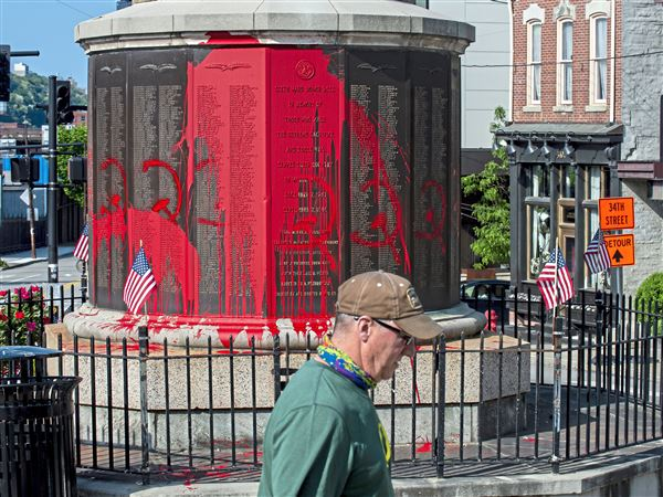 Fundraiser Started For World War I Memorial Vandalized On Holiday In Lawrenceville Pittsburgh Post Gazette